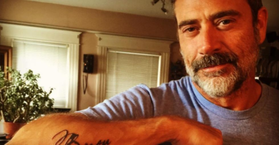 The Meaning Behind Jeffrey Dean Morgan's Tattoo Reveals a Softer Side To 'The Walking Dead' Villain