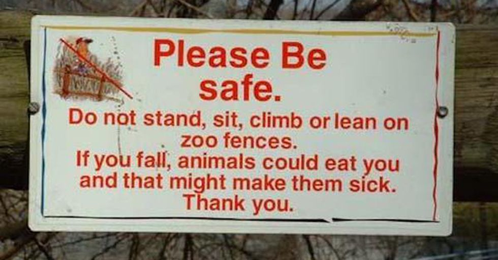 Bizarre Zoo Signs That Probably Have Awesome Stories Behind Them