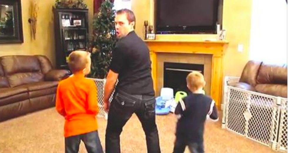 Dad and Triplets Create Hilariously EPIC Music Video To 'Sexy and I Know It'