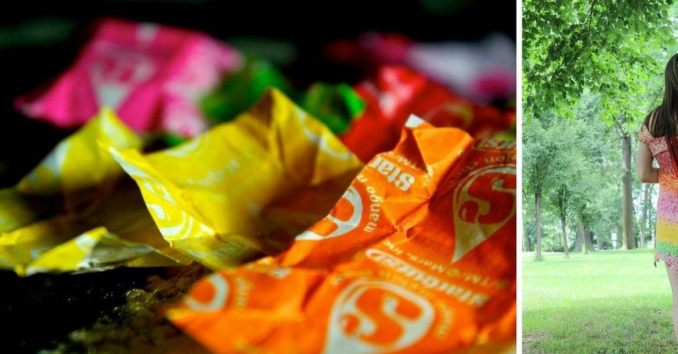A Girl Spent Four Years and Used 10,000 Starburst Wrappers To Make This AMAZING Dress