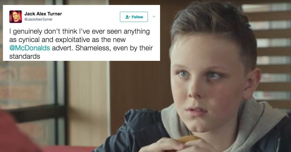 A Controversial New McDonald's Ad Has Parents Everywhere Outraged
