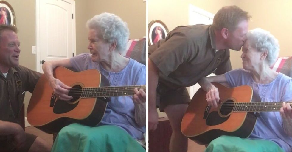 Woman With Alzheimer's Forgets Son Most of the Time...Except When They Sing Together