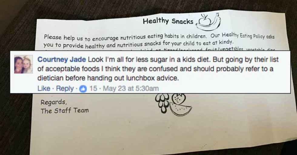 Kindergarten Mom Scolded For Her Packing Her Child This 'Unacceptable' Snack