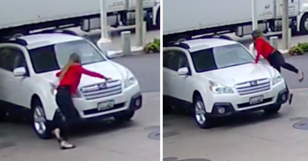 What This Woman Did When a Thief Tried To Steal Her Car Has the Internet Divided