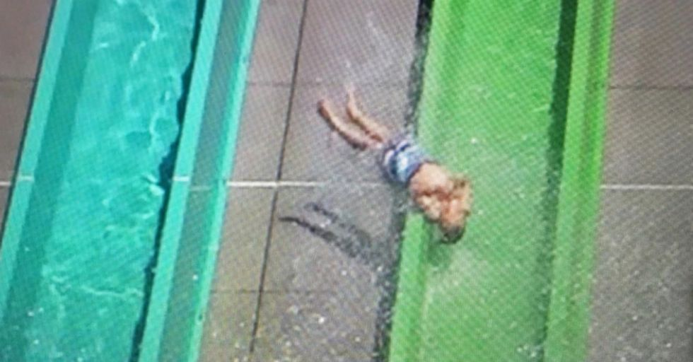 You Have To See This Kid COMPLETELY Fly Out of a Three-Story Water Slide