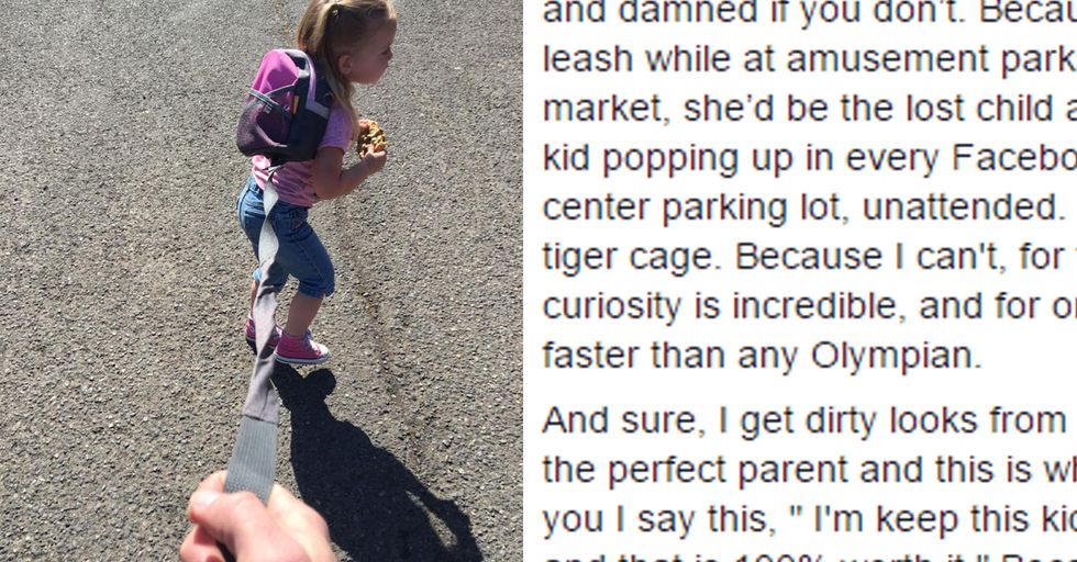 This Dad's Viral Post Totally Busted the Stigma Of Toddler Leashes