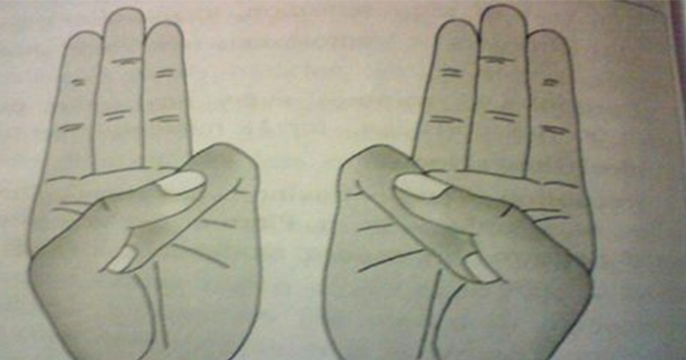 Holding Your Hand In This Position Is Proven To Help Your Body AND Mind