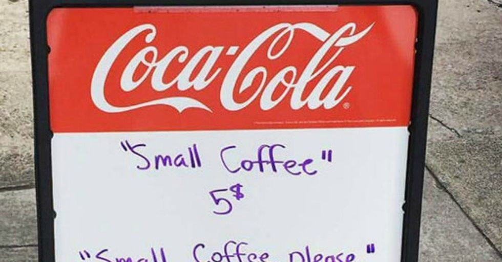This Coffee Shop's Clever Sign Is Teaching Inconsiderate Customers a Lesson