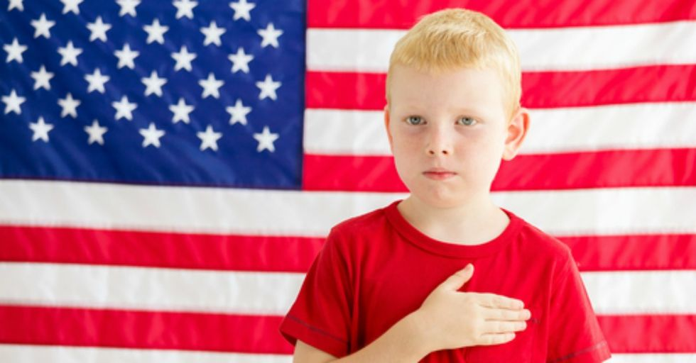 A Mom Is Suing Her Son's School Over the Pledge of Allegiance