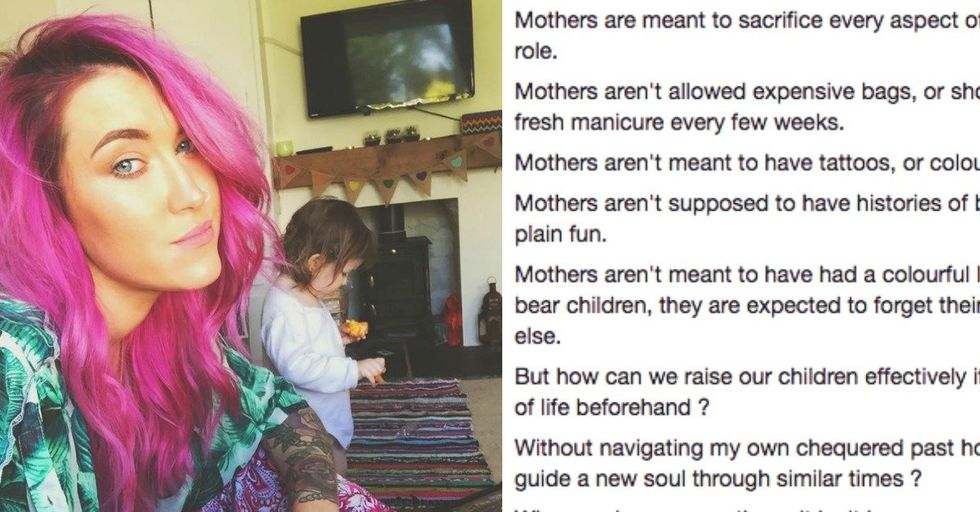 Tattooed Woman Claps Back Against People Who Say She 'Doesn't Look Like a Mom'