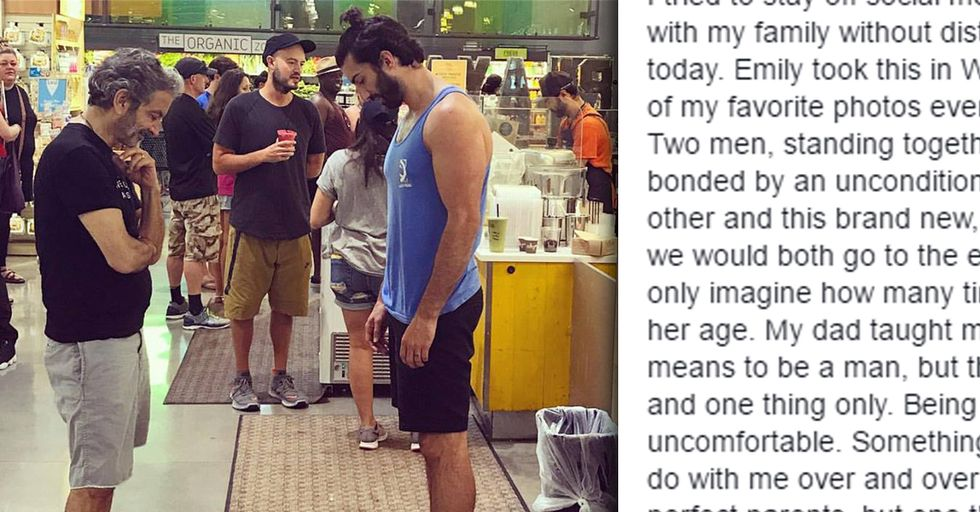 Dad's Viral Photo Offers an Important (Yet Controversial) Parenting Lesson