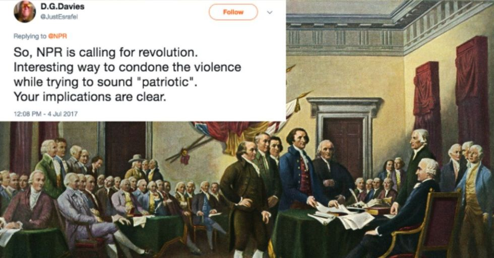 When NPR Tweeted the Declaration of Independence, Trump Supporters Lost Their Minds