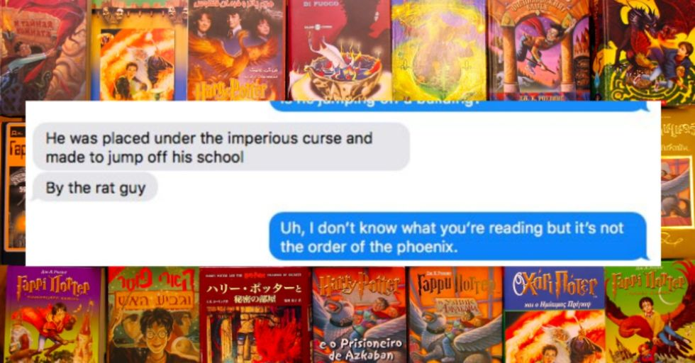 Guy Thought He Was Reading 'Harry Potter' For the First Time, But He Was HILARIOUSLY Mistaken