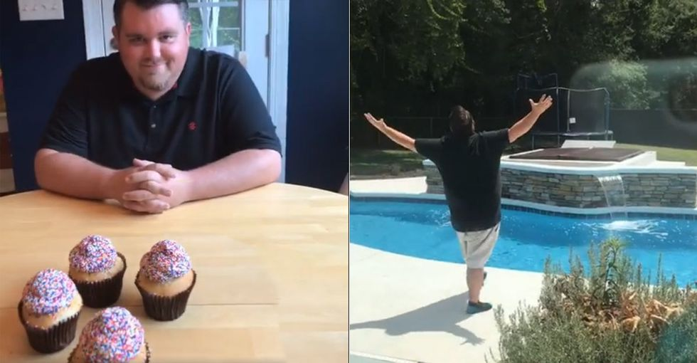 Dad Has Most Dramatic Reaction EVER To Gender Reveal of His Fifth Child