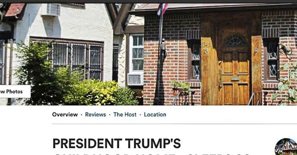 You Can Airbnb President Trump's 'Bizarre' Childhood Home...But It's Gonna Cost You
