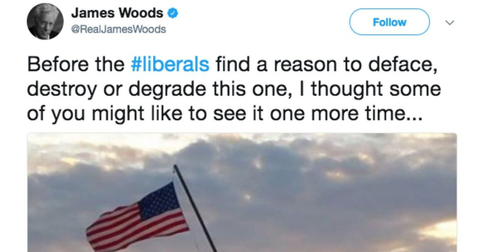 Twitter Takes On James Woods, Once Again, For His CRAZY Tweet About Statues