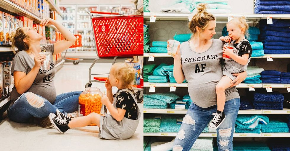Moms Are Loving This Maternity Photo Shoot With a Surprisingly Bittersweet Twist