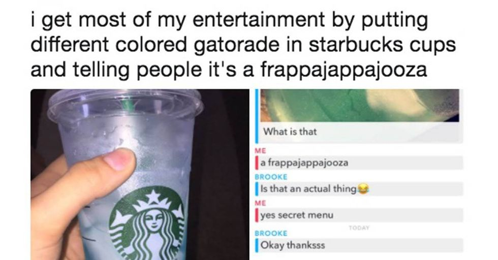 This Clever Girl Created a Fake Starbucks Drink, Then Trolled Her Friends With It
