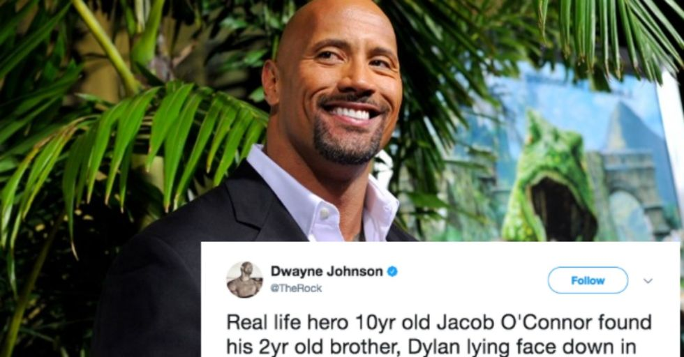 10-Year-Old Boy Saves His Brother's Life Using a Move He Learned from the Rock in 'San Andreas'