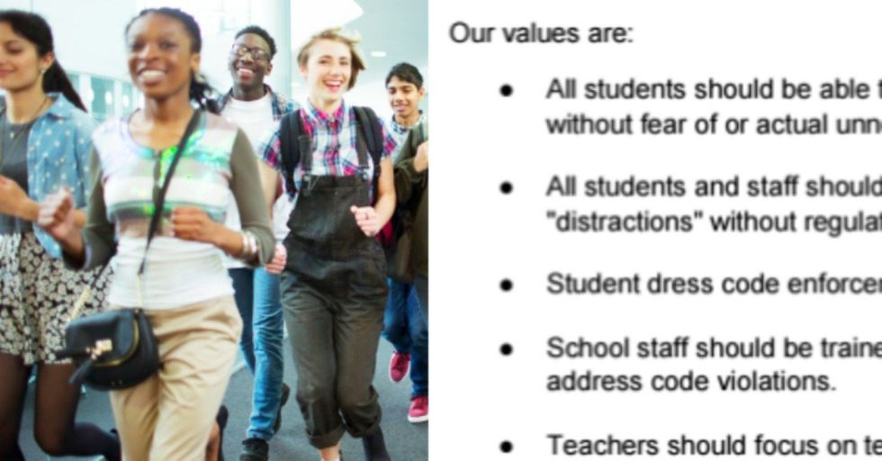 High School Administrators: 'Stop Looking at Girls as Objects and We Won't Need a Dress Code'