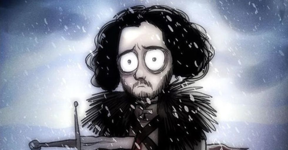 'Game of Thrones' in the Style of Tim Burton Will Change the Way You Look at the Night King Forever