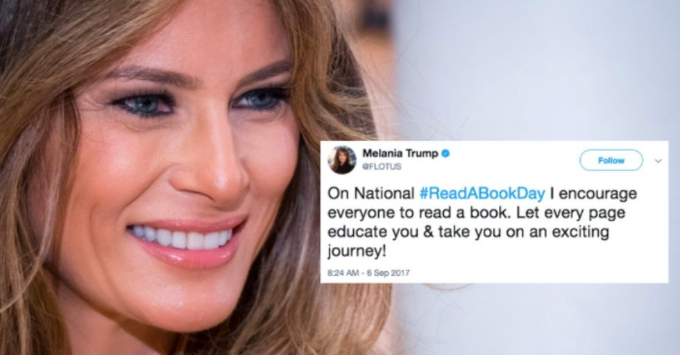 Melania Trump's 'Read a Book Day' Tweet Backfires Epically
