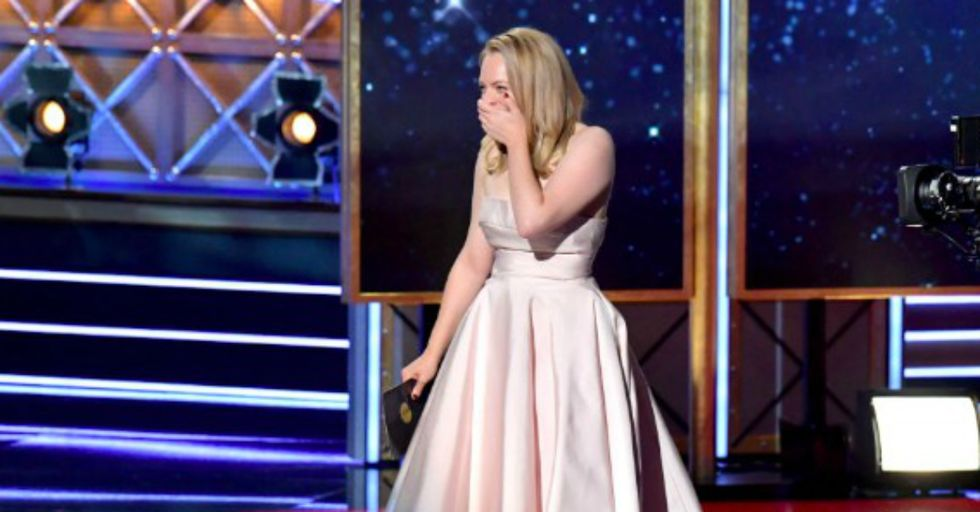 Here's What Got Bleeped out of Elisabeth Moss's Emmy Speech