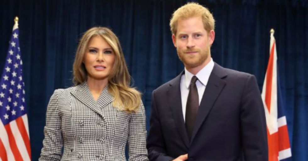 Did Prince Harry Flash the Devil's Sign When Meeting Melania Trump?