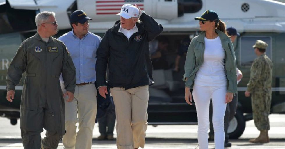 Guess What Kind of Shoes Melania Trump Wore to Visit Puerto Rico