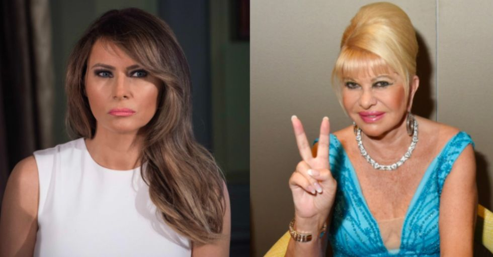 Trump's Ex-Wife, Ivana, Just Called Herself the Real 'First Lady' — and Then Melania Stepped In