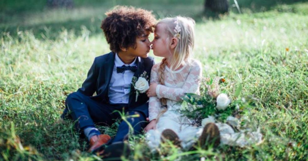 These Two Photographer Moms Staged a Wedding for their Young Children and The Internet Is Totally Weirded out