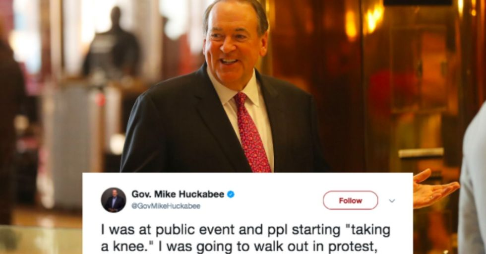 Mike Huckabee Tried to Make a Joke About the NFL Protests — Instead, He May Have Just Proved the Protestors' Point