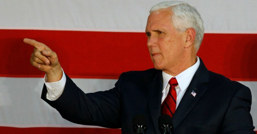 Trump Made a Horrific Joke about What Mike Pence Wants to Do to Gay People