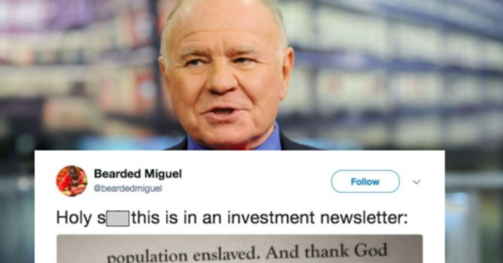 Famous Financial Guru Forced to Resign After Wildly Racist Comments Thanking God for White People