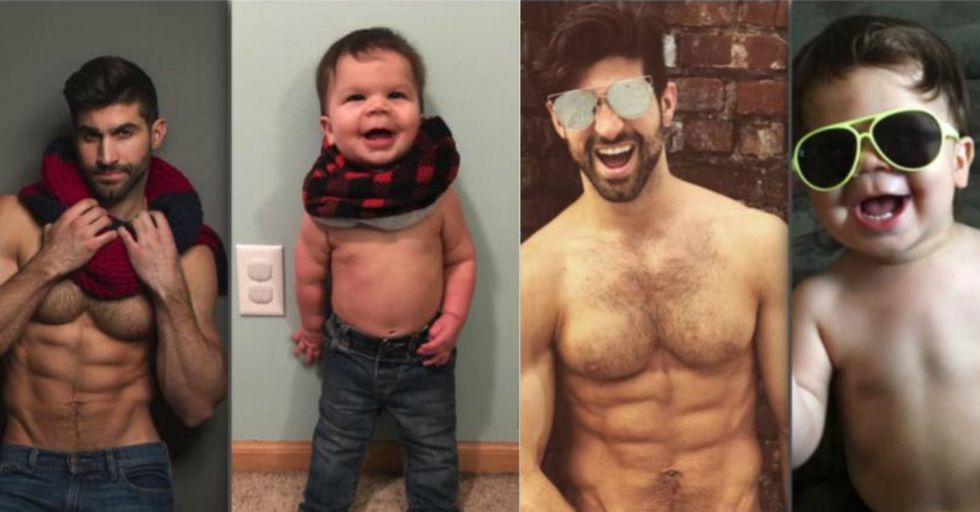 This Toddler and His Model Uncle Are The Cutest Doppelgängers