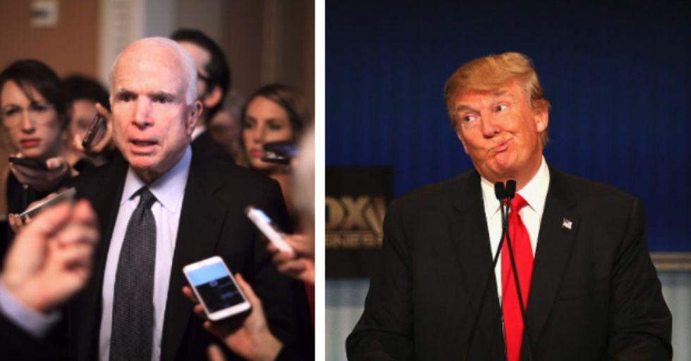 John McCain Mocks Trump for Dodging the Vietnam Draft