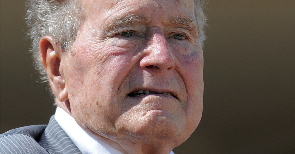 Now George Bush Sr. Is Being Accused of Sexual Assault and He Doesn't Deny It