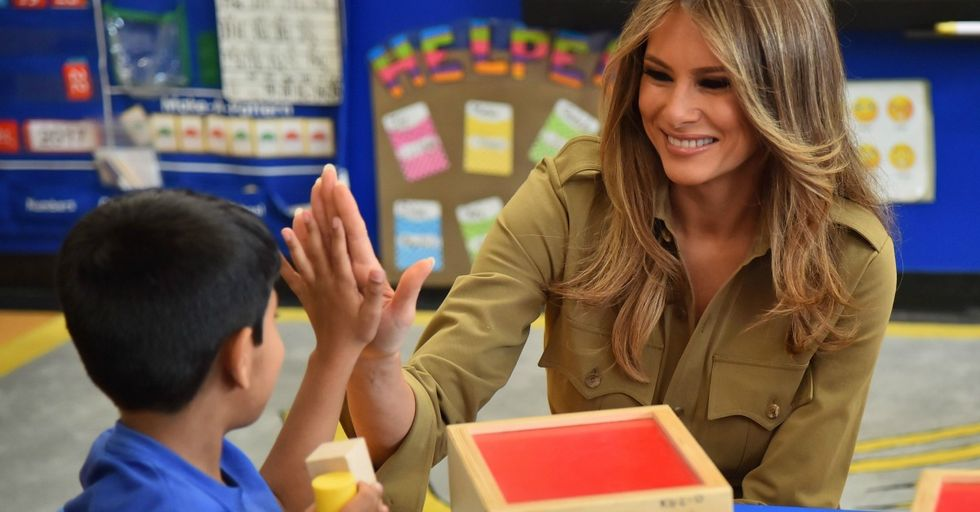 Melania Trump Visited a School to Teach Kids About Bullying, but They Were Not Having It