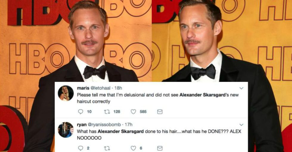 Alexander Skarsgård's New Haircut Is the Most Awful Thing We've Ever Seen