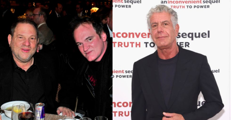 Anthony Bourdain Just Skewered Quentin Tarantino for His 'Complicity' in the Harvey Weinstein Scandal