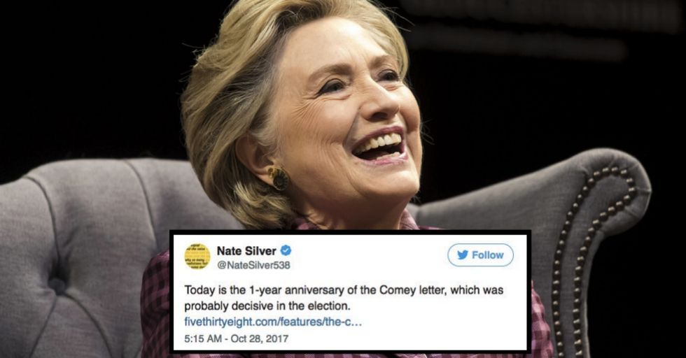 Hillary Clinton Just Wrote a Sassy Tweet About the Reason She Lost a Year Ago