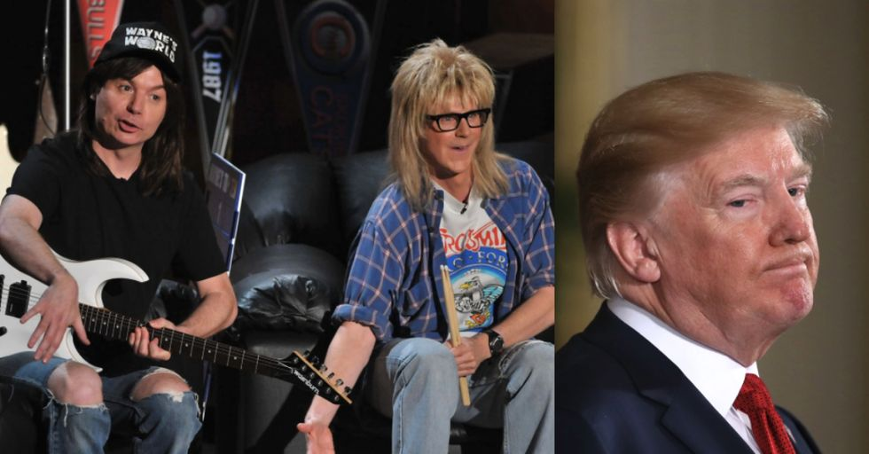 Donald Trump Tried to Make a 'Wayne's World' Joke, and It Did Not Go Well