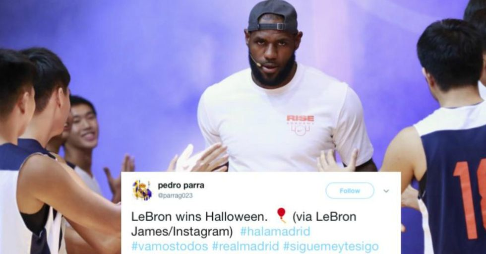 NBA Star LeBron James Won Halloween With the Scariest Costume We've Ever Seen