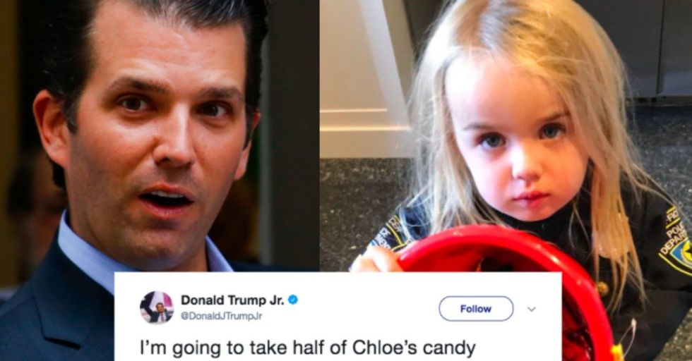 Donald Trump Jr. Skewered After Using His Daughter in a Halloween Tweet About Socialism