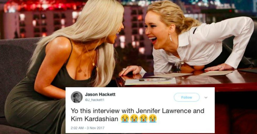 Jennifer Lawrence Just Grilled Kim Kardashian on Her Relationship With Blac Chyna