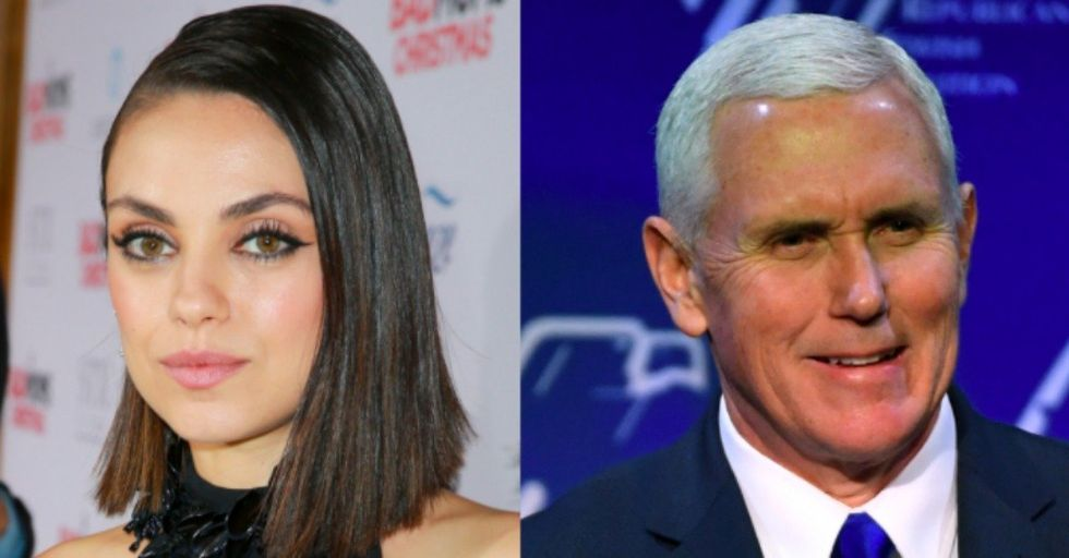 Mila Kunis Just Revealed That She's Been Trolling Mike Pence for Months