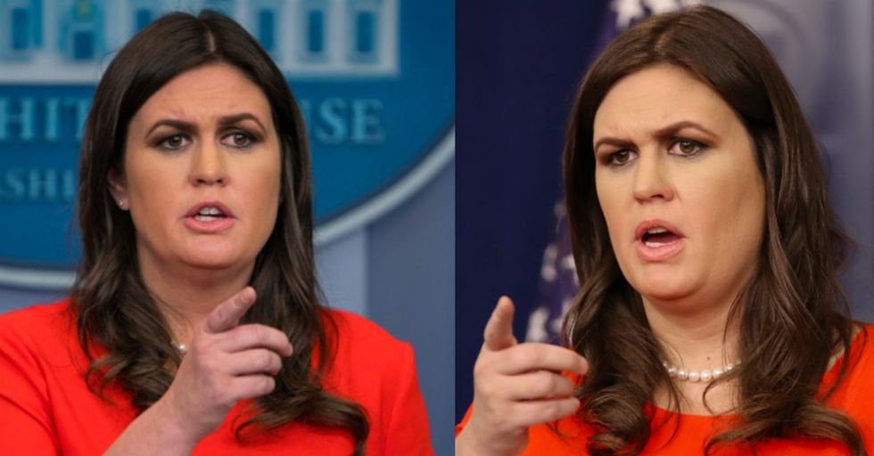 Sarah Huckabee Sanders Admits to the Press What Trump's 'Flaw' Is