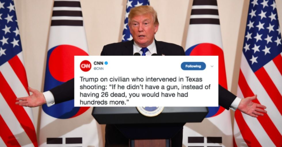 Trump Claims Gun Control Would Have Killed 'Hundreds More' in Texas Church Shooting