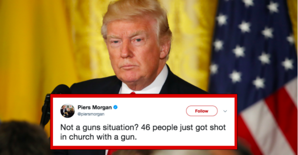 Here's Why Donald Trump Won't Call the Texas Church Shooting a 'Guns Situation'