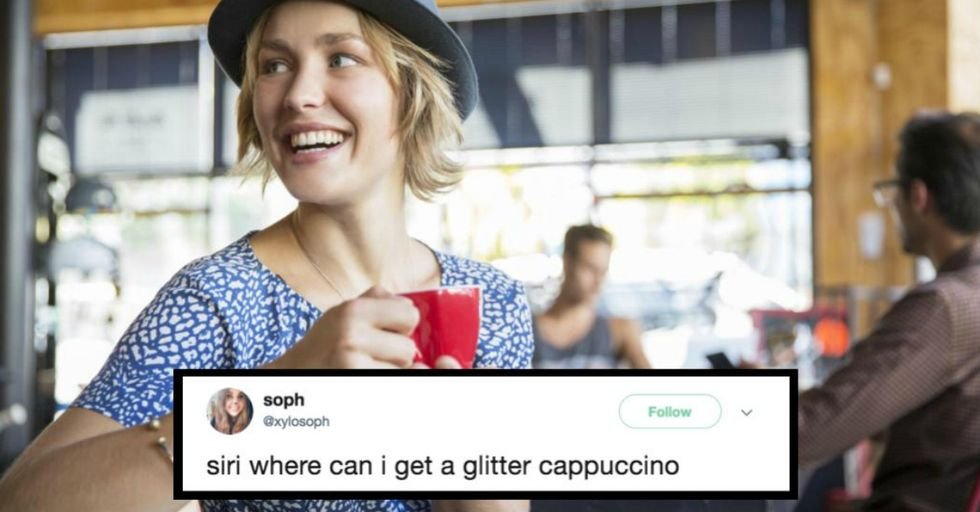 Attention Sparkle Lovers: Glitter Cappuccinos Are Here